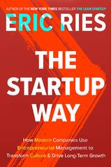 Book cover for the Start Up Way by Eric Ries