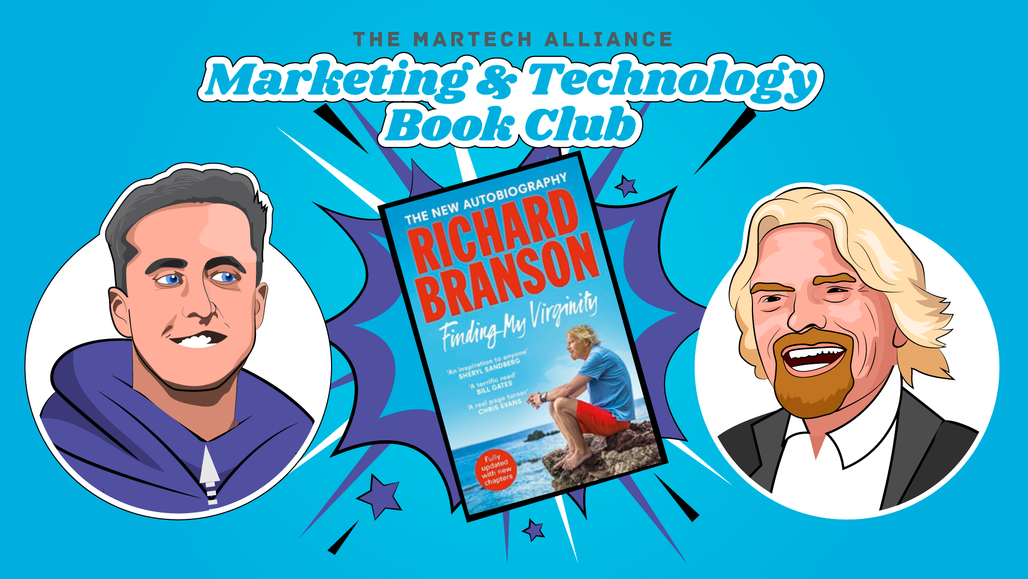 Richard Branson and Carlos Doughty Marketing & Tech Book Club