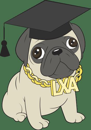 wearing graduation hat