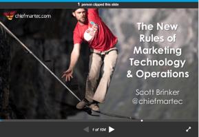 Scott Brinker #MarTechFest presentation 2018 - The New Rules of Marketing Technology & Operations