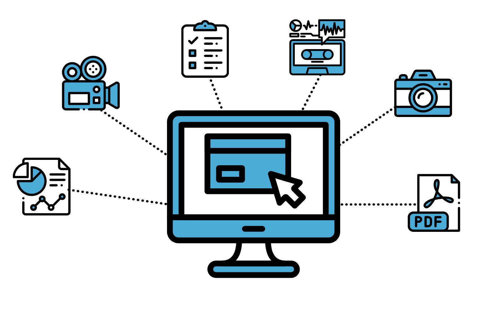 Digital Asset Management (DAM) System Infographic