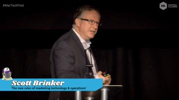 Scott Brinker presenting at #MarTechFest 2018