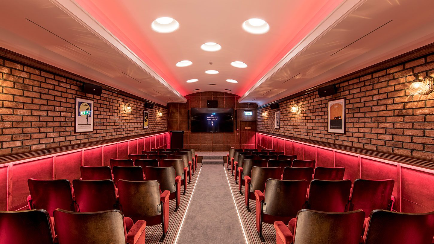 The 'Cutting Room' is an intimate theatre space for presentations.