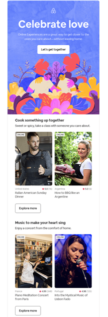 Airbnb Event Email Example